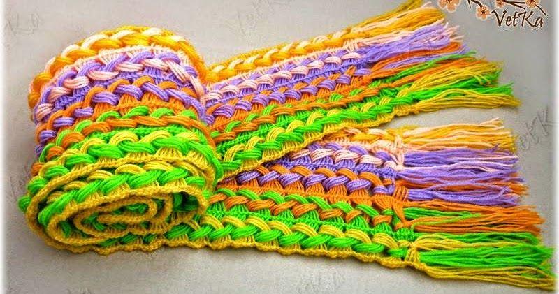 Cómo tejer una bufanda muy original paso a paso con ganchillo | ropa ...