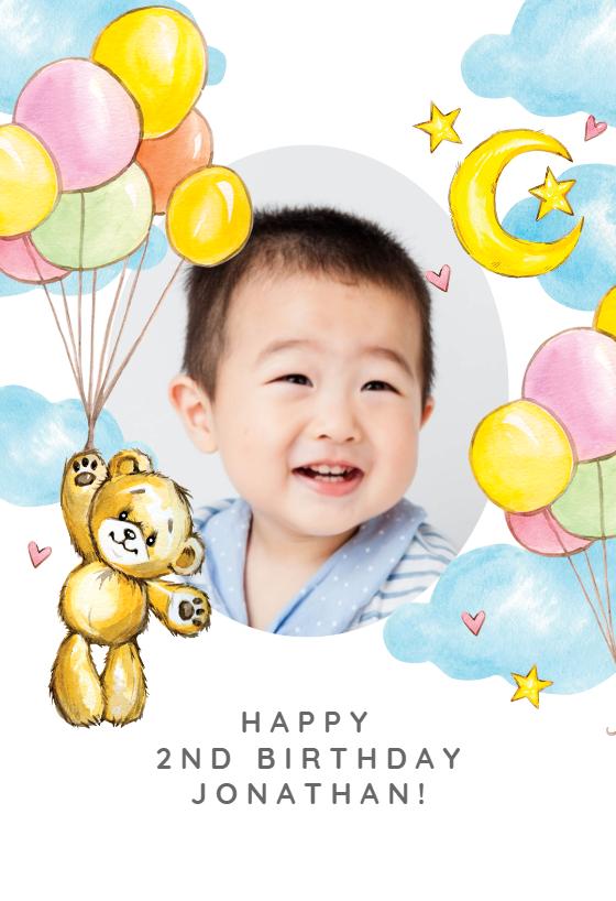 Teddy Bear Birthday Card Greetings Island Teddy Bear Birthday Birthday Party Stickers Bear Birthday