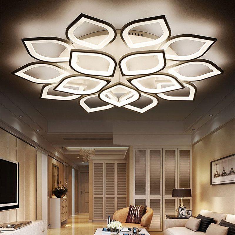 New Acrylic Modern Led Ceiling Lights For Living Room Bedroom Plafond Led Home Lighting Ceiling Lamp Lamparas De Te In 2020 Modern Led Ceiling Lights Led Ceiling Lights