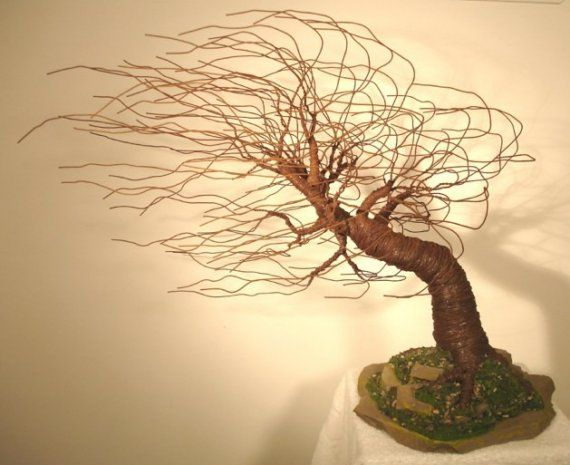 Mighty Wind Swept wire tree sculpture by Sal door salvatore7