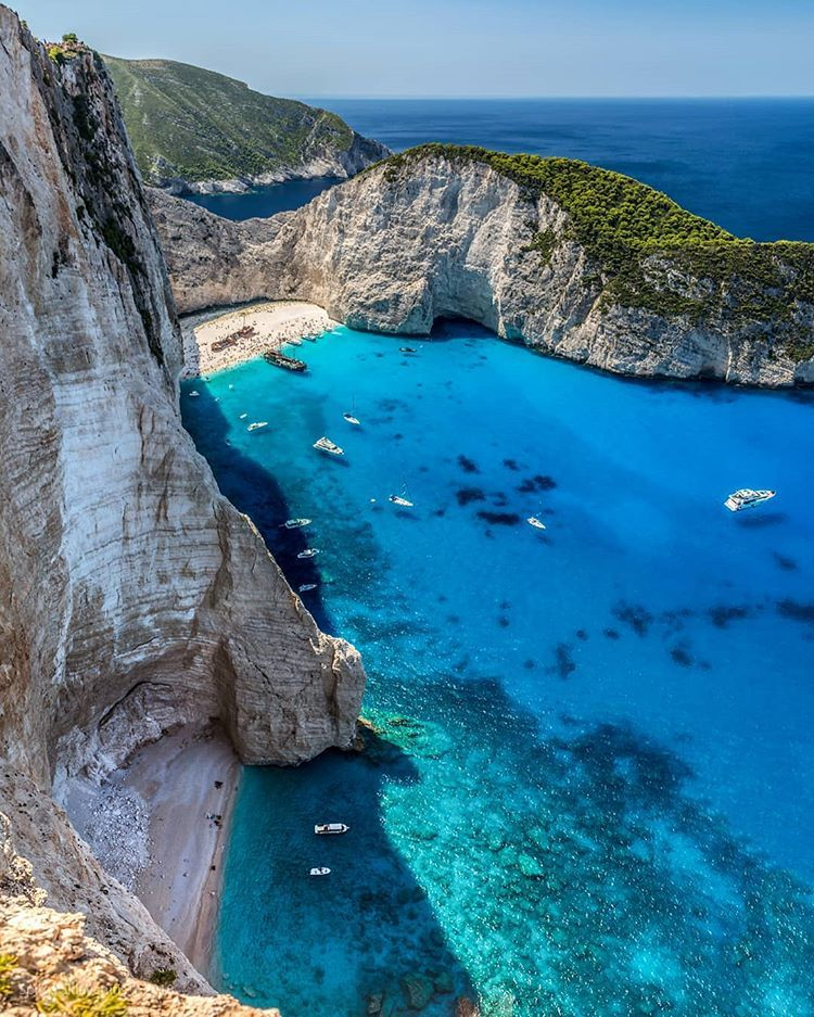 Most Beautiful Places Zakynthos: Navagio Beach (Shipwreck Beach), Greece, Ocean, Leisure