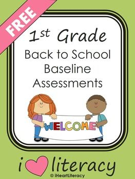 1st Grade Back To School Baseline Reading Assessments Free Best Of
