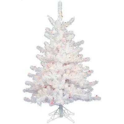 Crystal White 2\u0027 Artificial Christmas Tree with Unlit Christmas