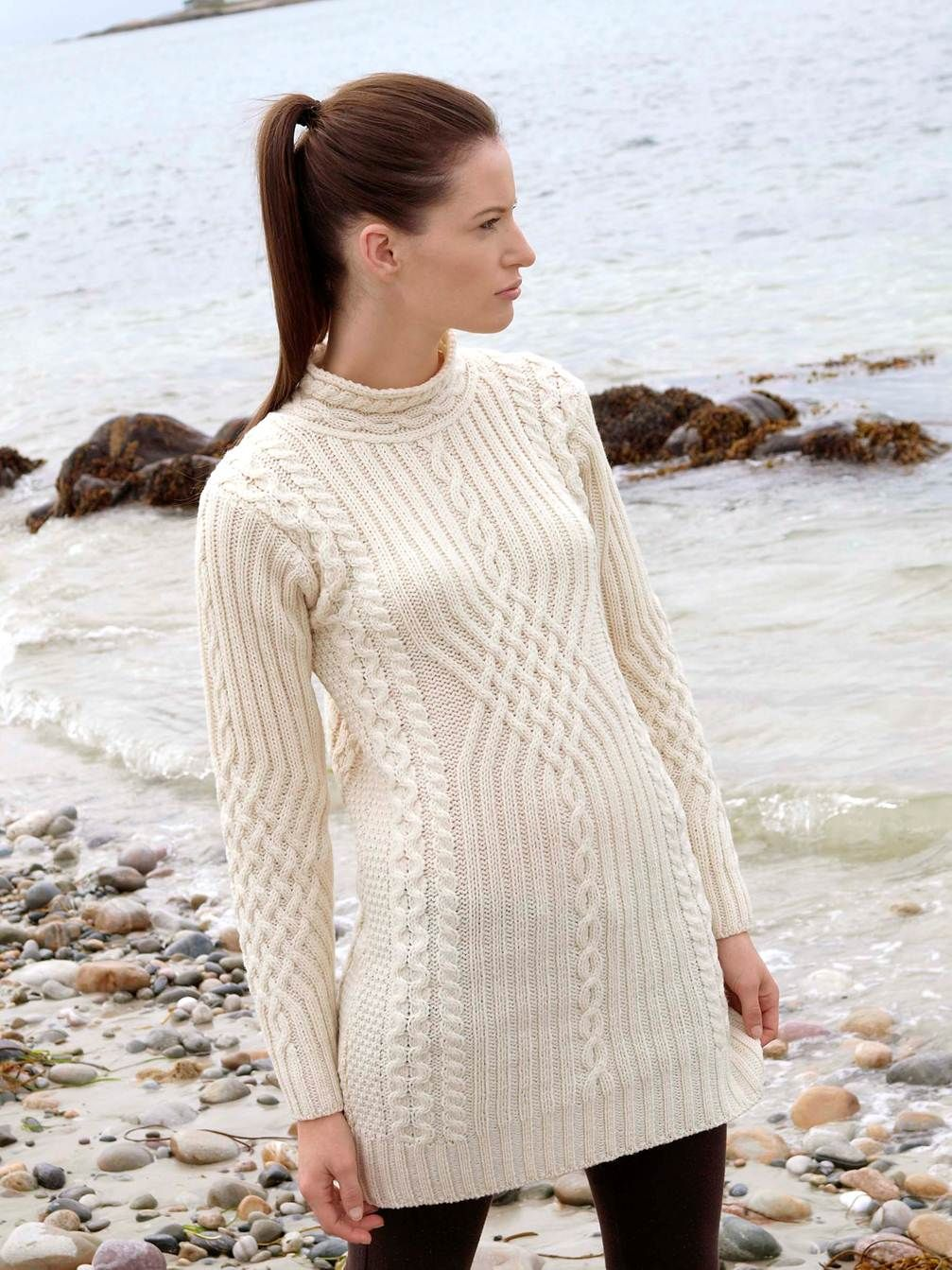 ARAN TUNIC Natallia Kulikouskaya for WEST END KNITWEAR | Tejido ...
