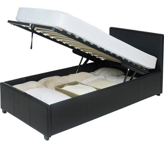 Admirable Buy Hygena Lavendon Single Ottoman Bed Frame Black At Theyellowbook Wood Chair Design Ideas Theyellowbookinfo