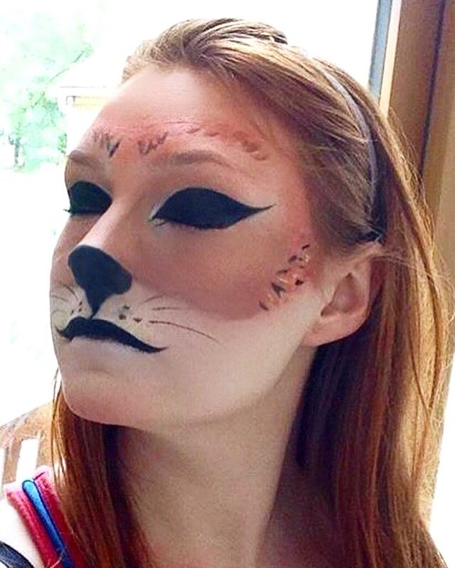 Fox Makeup Look For Haloween Done Using Mainly Eyeshadows And A - Fox-makeup