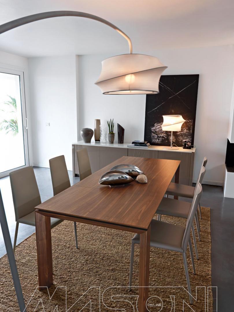 Omnia tavolo allungabile omnia calligaris struttura in legno impiallacciato o laccato e piano - Tavolo vetro allungabile calligaris ...