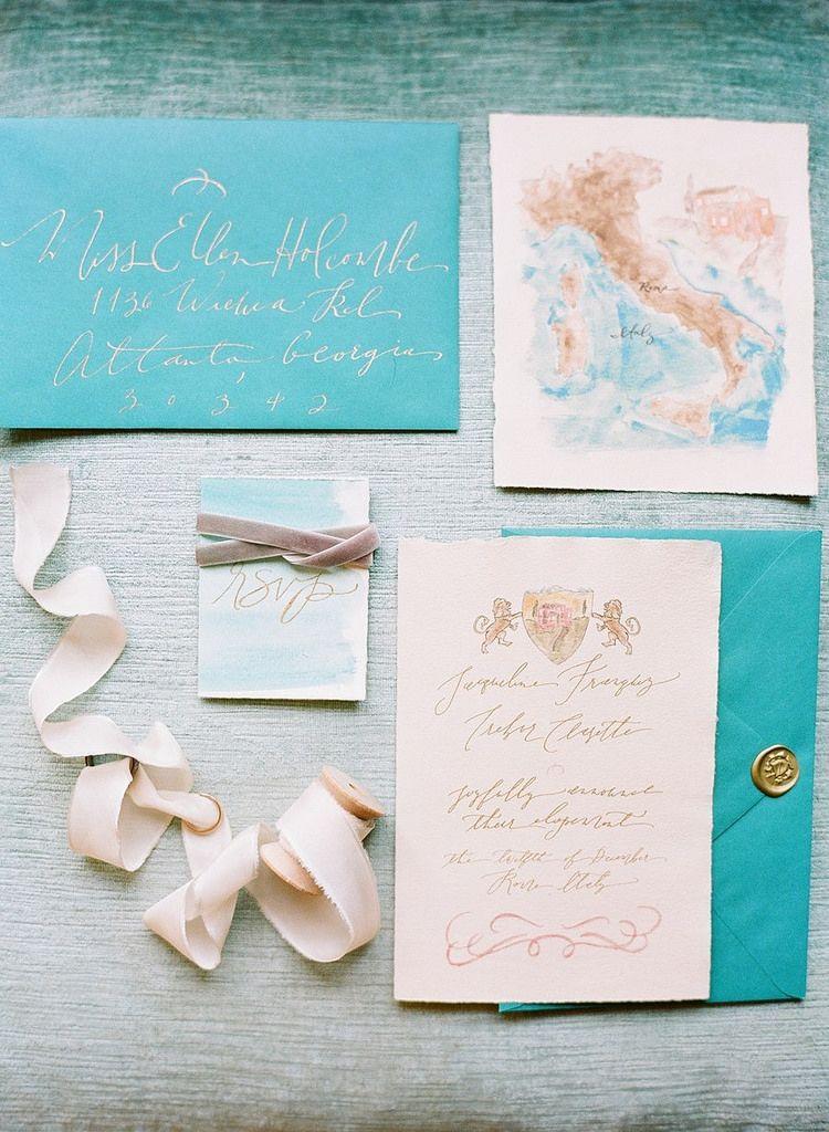 Italian Destination Wedding Invitation