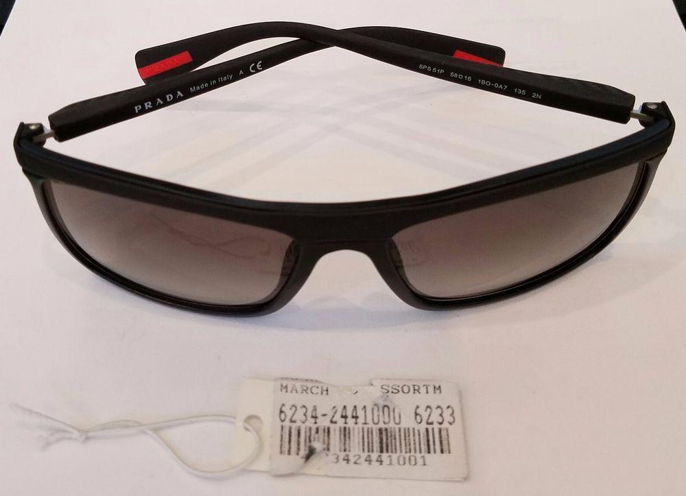 63004baec2 PRADA Sunglasses SPS 51P 58-16 1BO-0A7 135 2N Matte Black w  Grey Fade  lenses  PRADASPORT  SPS51P1BO0A7