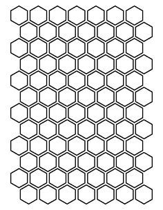 "1//2/"" HONEYCOMB STENCIL HEXAGON  BEEHIVE PAINT ART CRAFT TEMPLATE NEW 8/"" x 10/"""