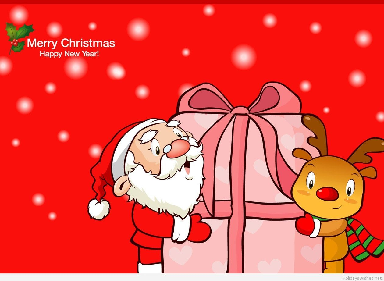 Red wallpaper Merry Christmas and Happy new year 2015 | CHRISTMAS ...