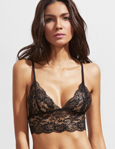 0a427c69678 Lana Lace Bralette - Sheer black lace - Low cut v-neck - Spaghetti strap -  Sexy and sultry - Chest padding  None - Available in four sizes - Please  allow ...
