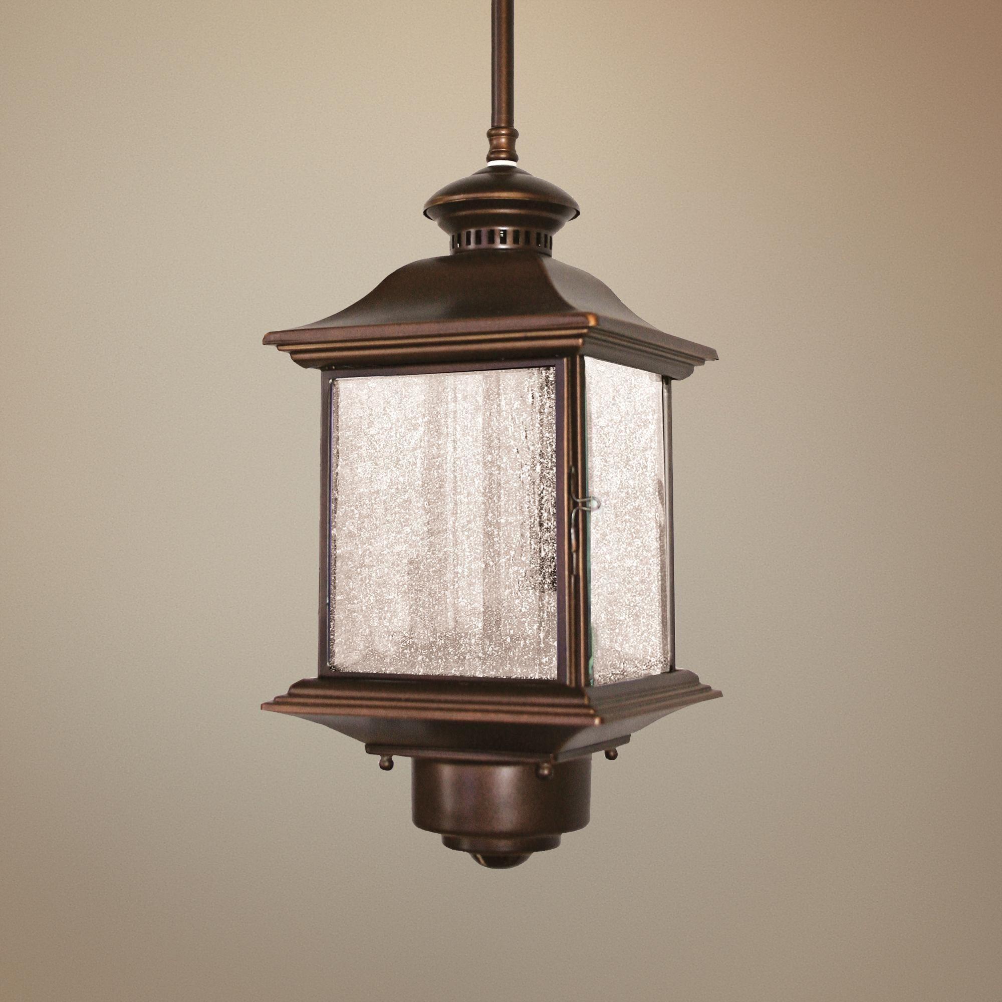 Motion Sensor 14 High Antique Bronze Outdoor Hanging Light 88248 Lamps Plus Outdoor Hanging Light Hanging Lights Lamps Plus