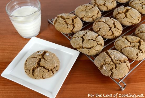 Ginger-Molasses Cookies | Food & Recipes | Pinterest ...