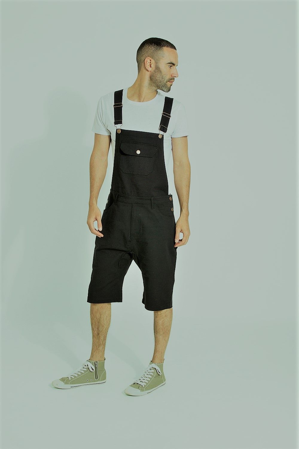c4d90097 Versatility is the name of the game - #Uskees Jesse black cotton  bib-overall shorts are an awesome choice if you want to be equipped for fun.