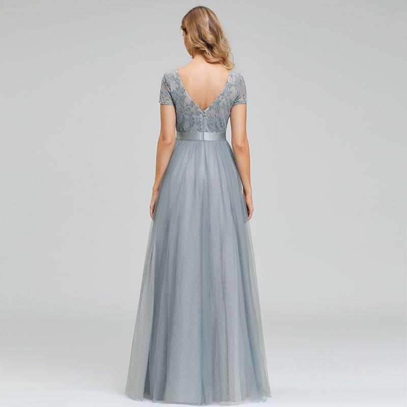 Everpretty uk lace short sleeve long bridesmaid dress a