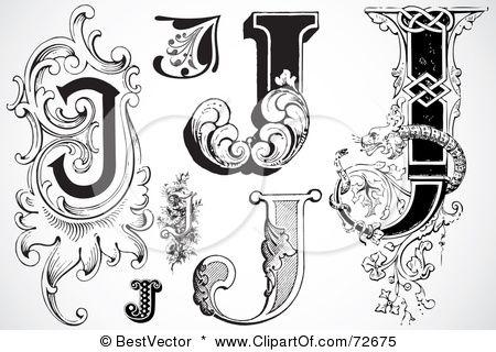 Black White J S Ink Lettering Graffiti Lettering Letter J