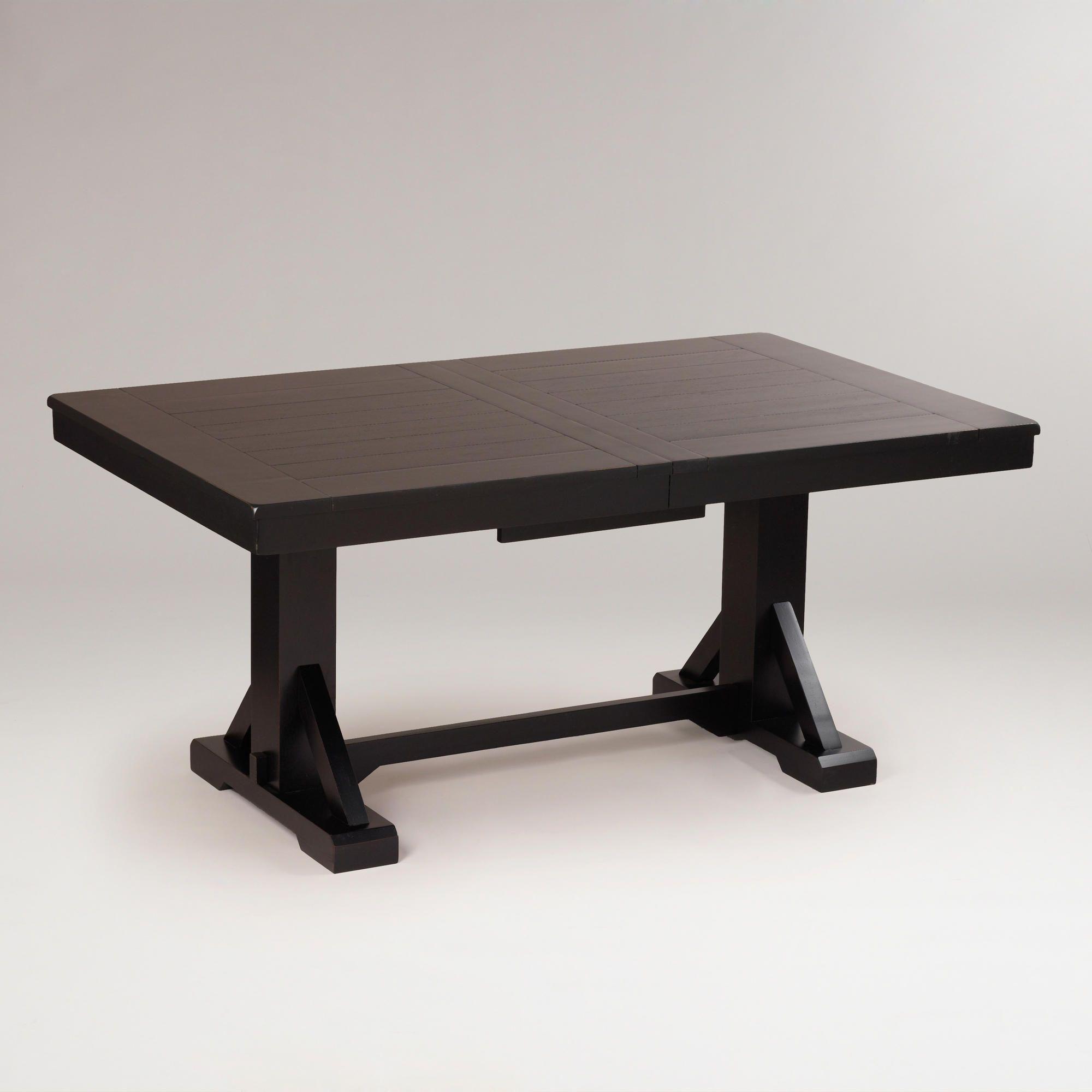 Cost Plus World Market Antique Black Verona Trestle Table