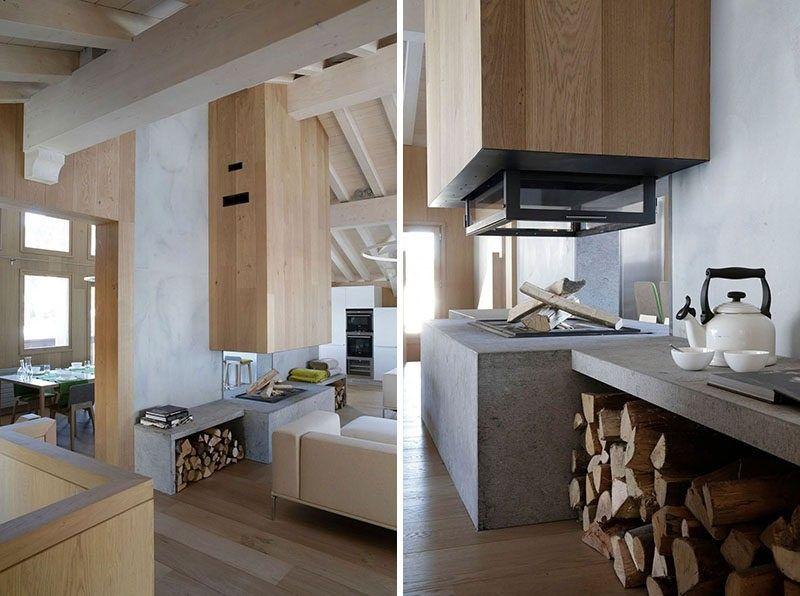 DOPPELTE DOPPELSEITIGE KAMIN IDEE dieser doppelten doppelseitige - wohnzimmer gemutlich warm