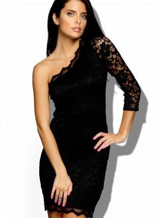 One Shoulder Black Cocktail Dresses - Ocodea.com