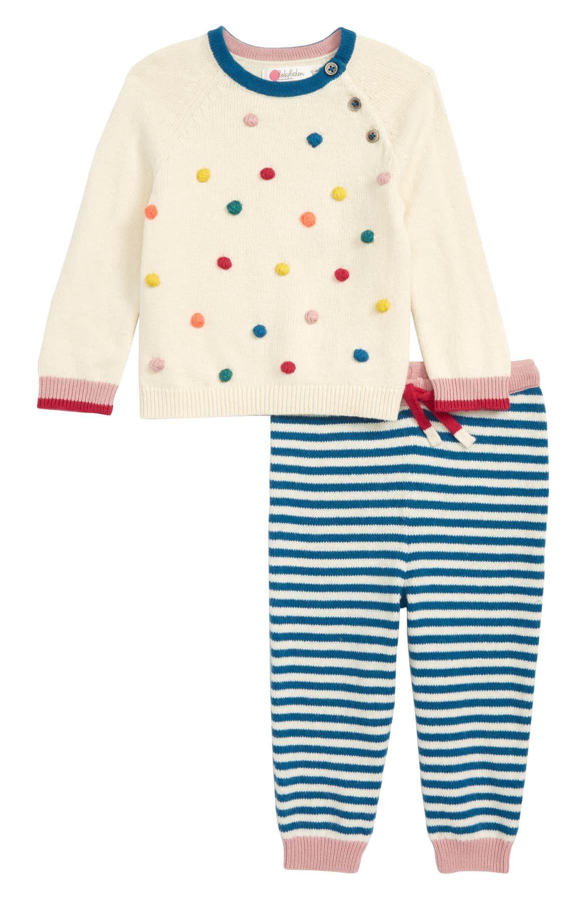 49a34e9c8 Pompom Knit Sweater   Pants Set