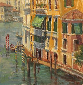 Green Awnings by Karen Leoni in the FASO Daily Art Show