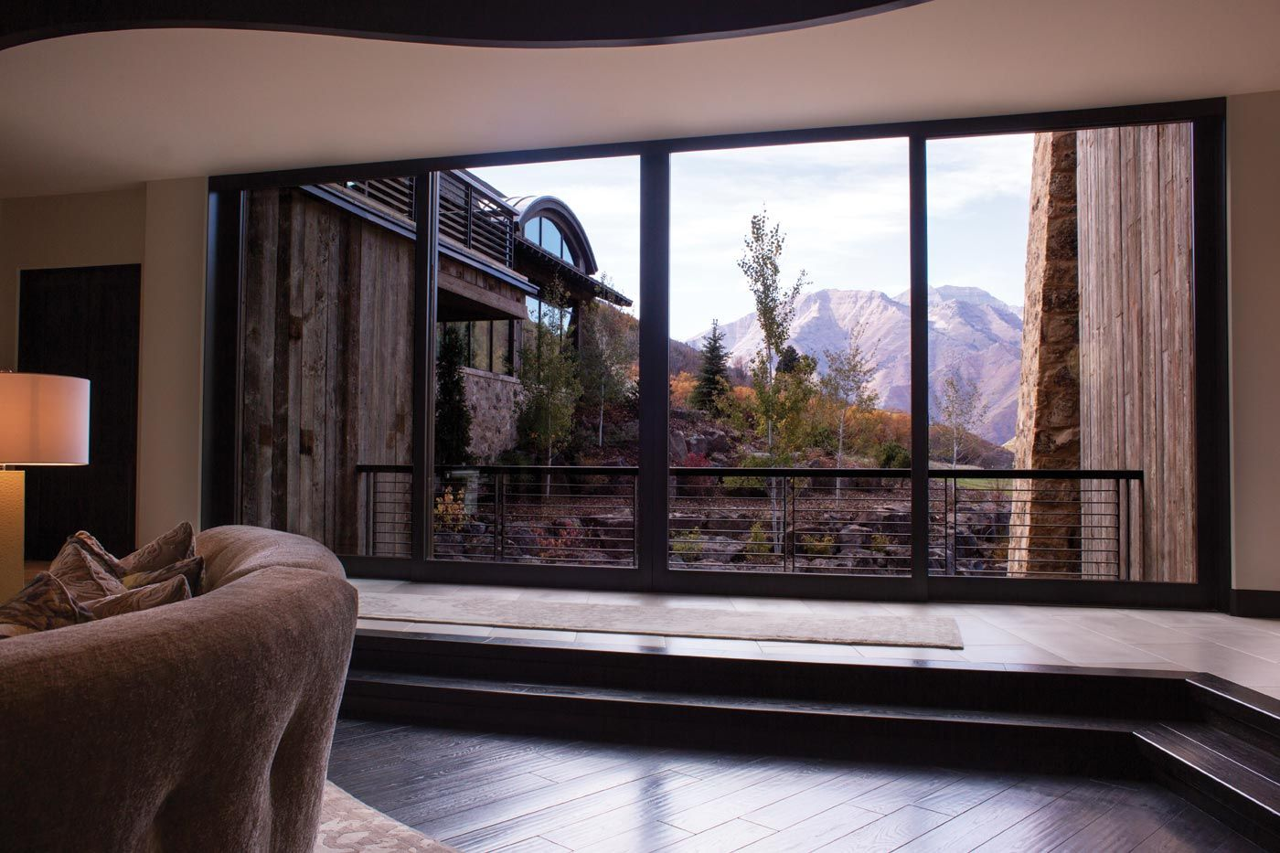 Private Residence Lift And Slide Door With Mountain View By Marvin Windows