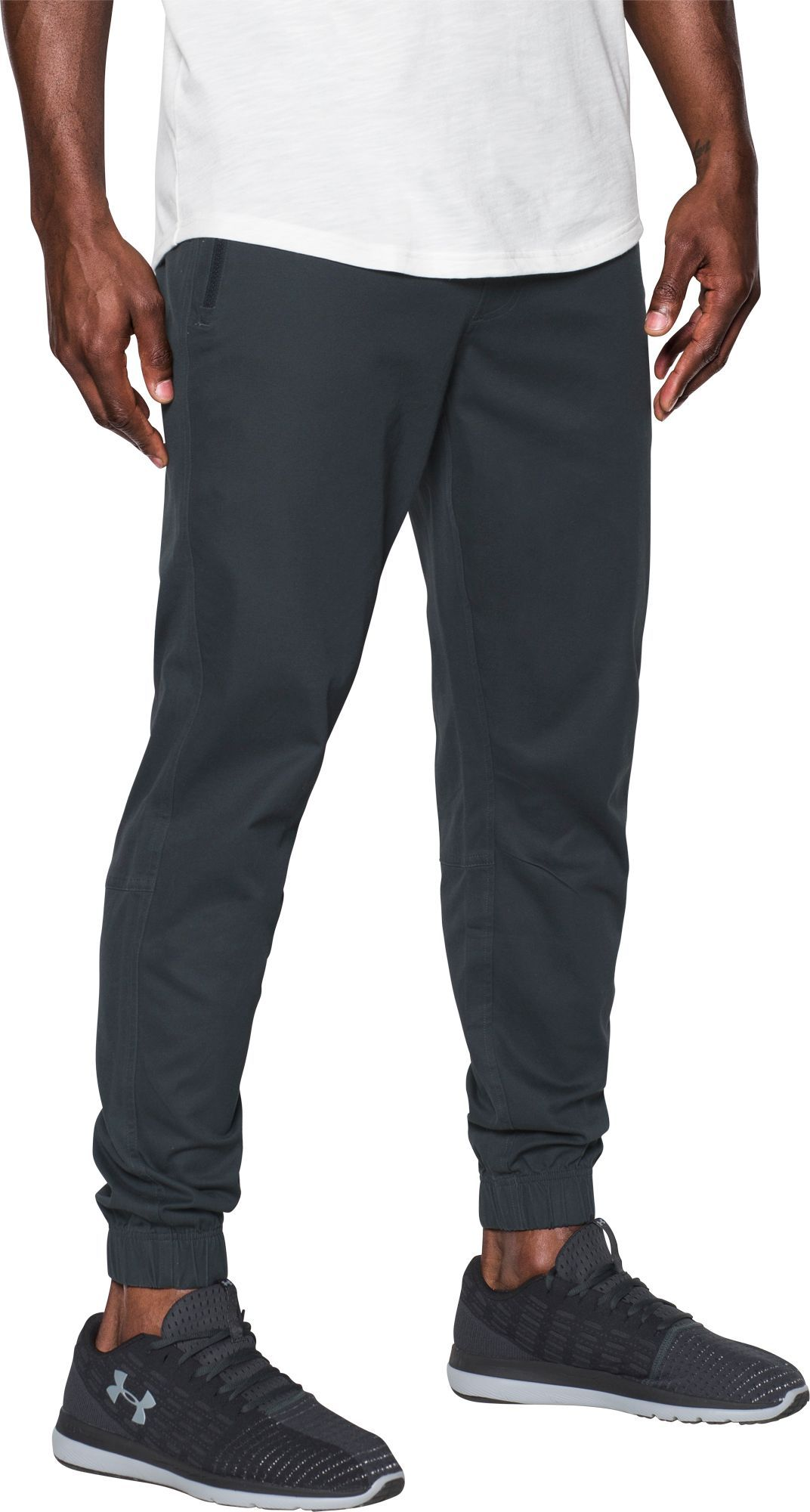 NWT Under Armour Men/'s Performance Chino Jogger Academy Black Print 1302704-001