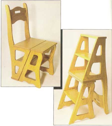 Wooden Step Stool Chair Types Of Bean Bag Chairs Convertible Downloadable Plan Furniture And From Woodworkersjournal Com