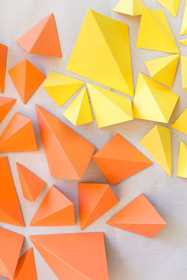 DIY: Geometric Paper Backdrop | Backdrops, Decoration and Origami