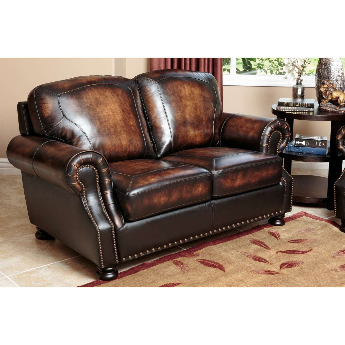 2293 Best Images About Leather Sofas And Living Room: Sienna Brown Top Grain Leather Loveseat