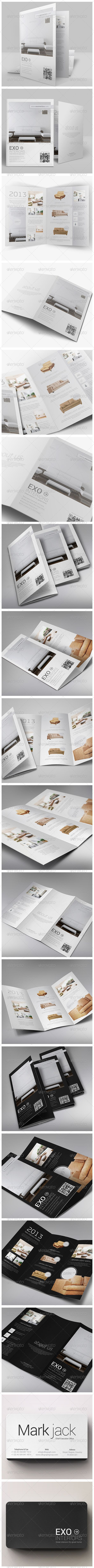 brochures pack a4 trifold business card corporate brochures