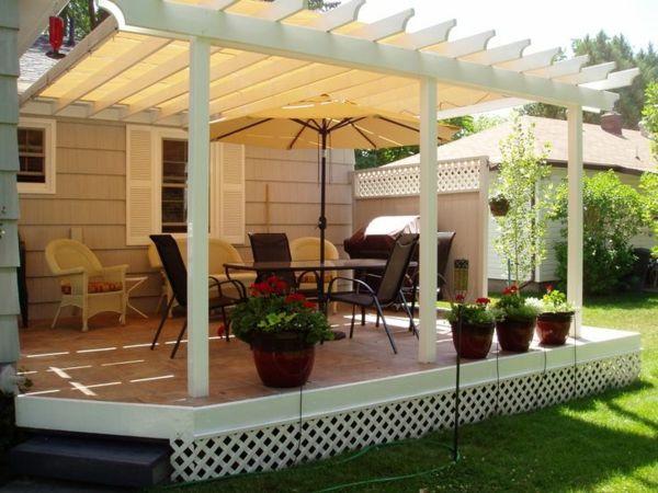Тerrassenüberdachung selber bauen -Gartenlauben, Markisen und ...