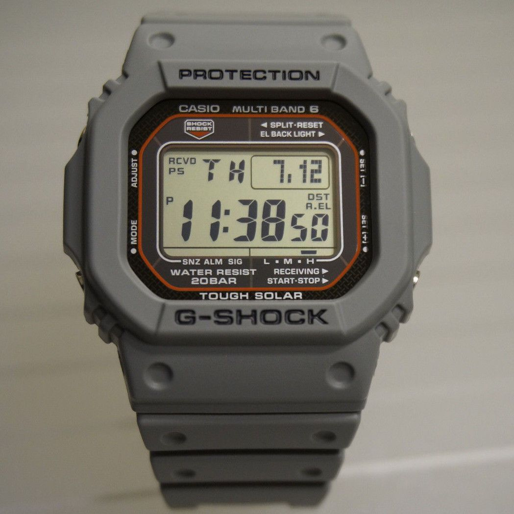 81f98785a CASIO G-SHOCK GWM5610-1 Modded Grey/Orange Gshock GW-M5610 Mulitband ...