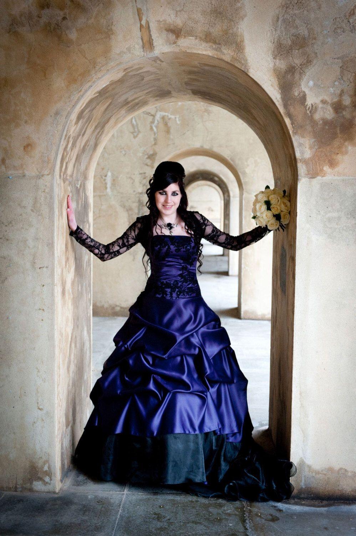 Purple Gothic Wedding Dress by WeddingDressFantasy on Etsy https ...