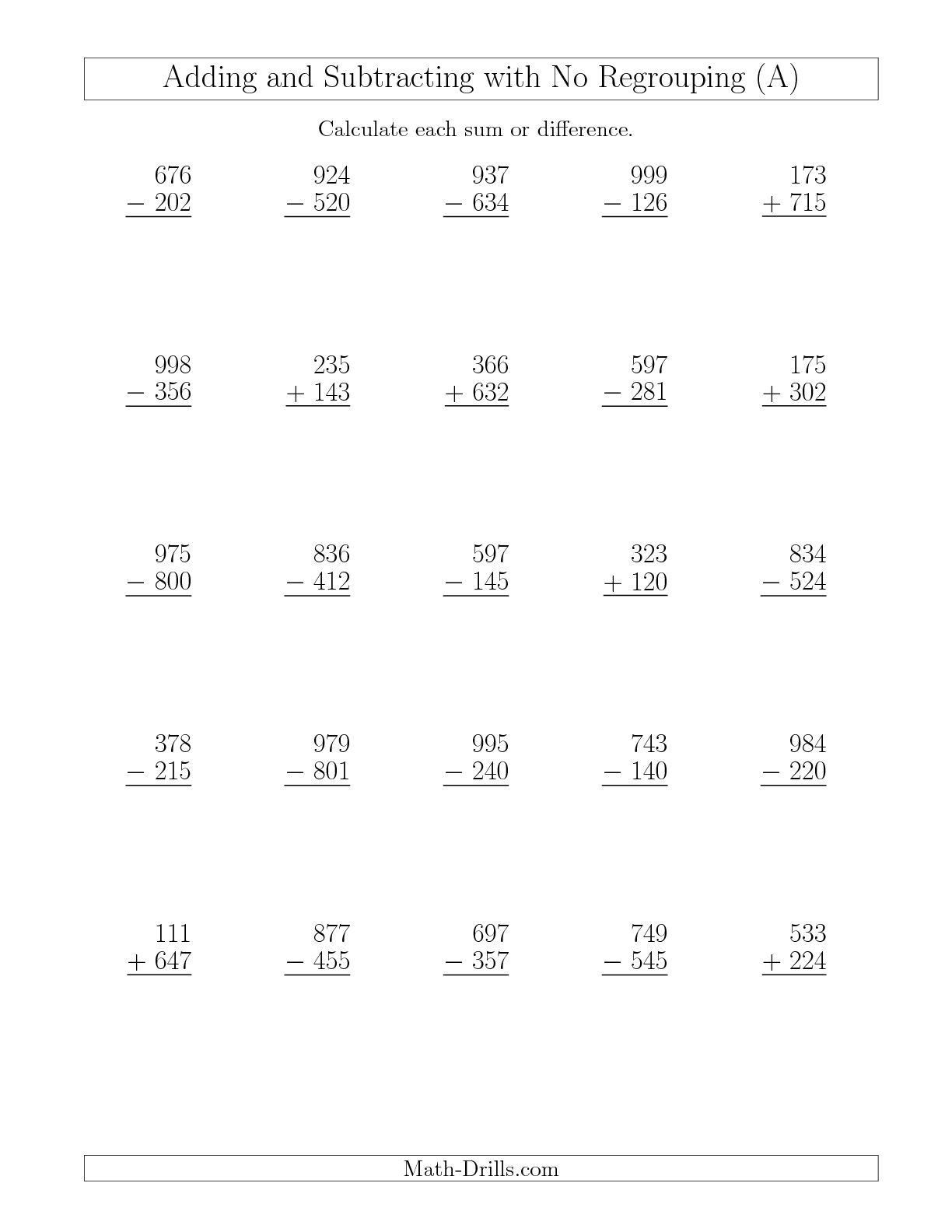 5 4 Digit Subtraction With Regrouping Worksheets In