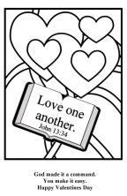 Love One Another Sunday School Coloring Pages Sunday School Valentines Sunday School