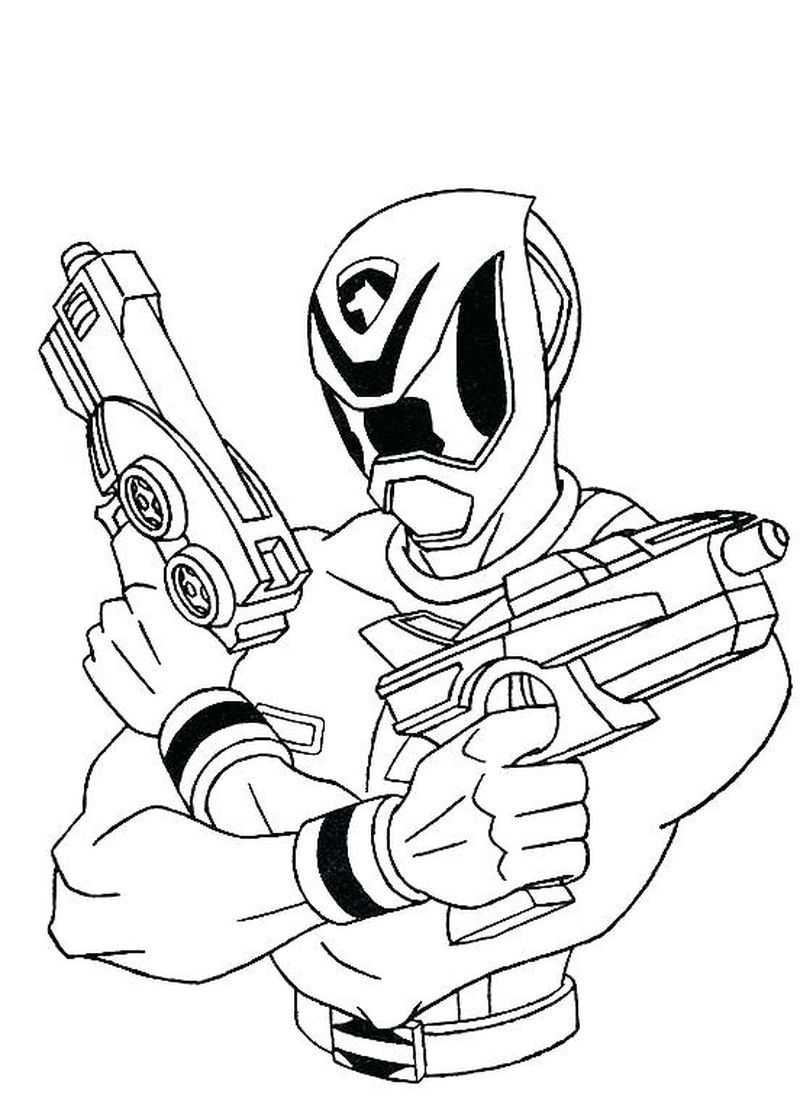 Printable Power Ranger Coloring Pages For Kids