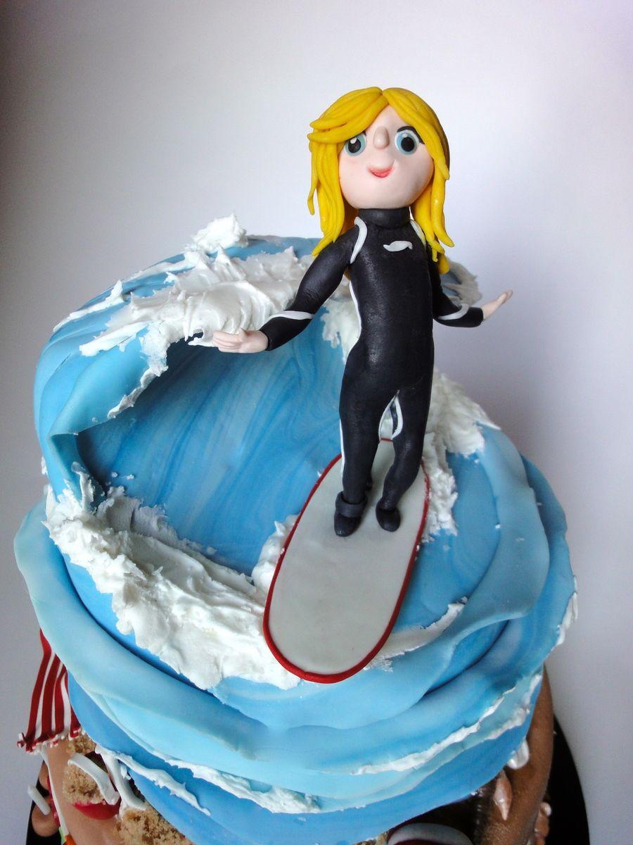 Surfer Girl Cake Modeled After The 8 Year Old Surfer