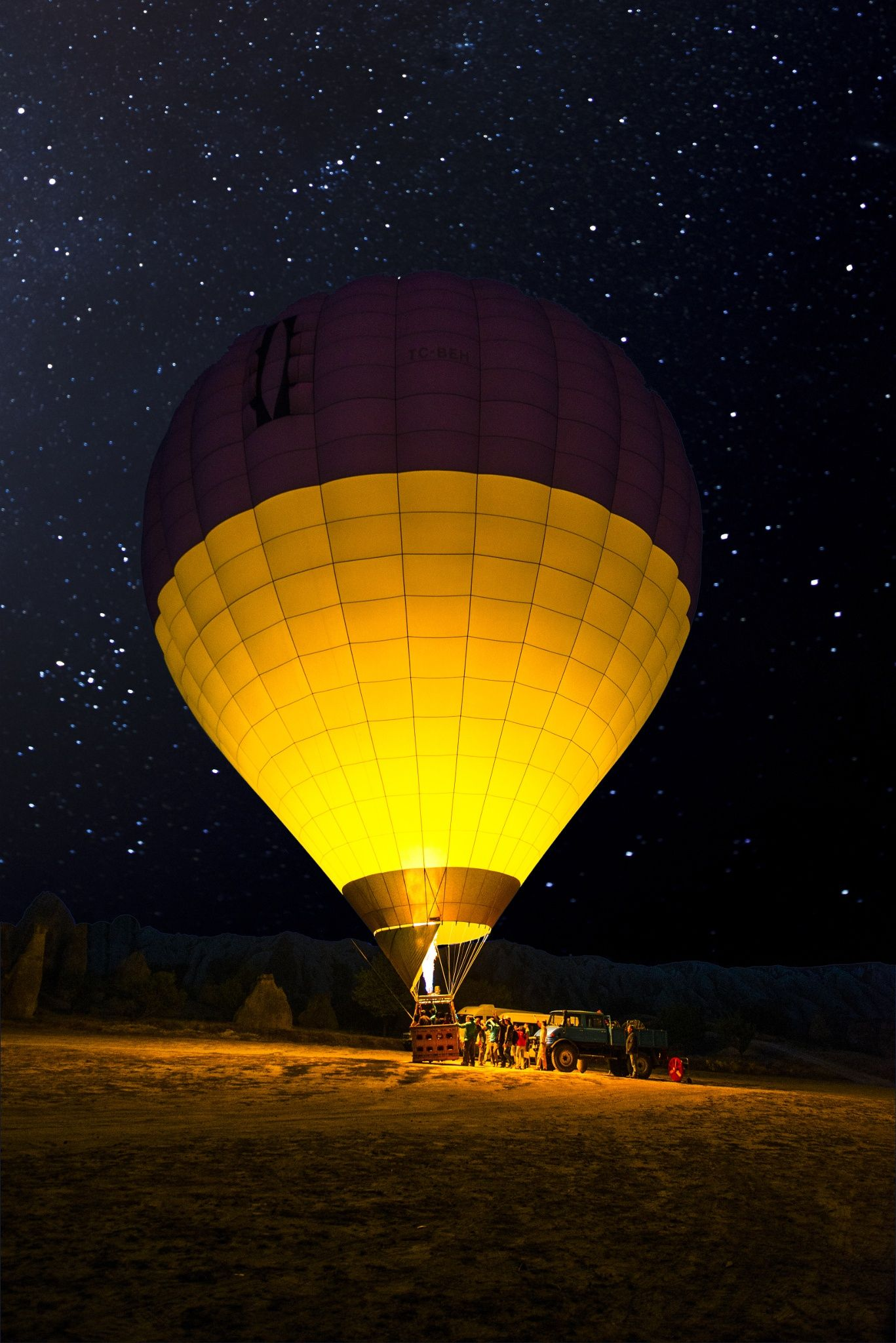 Hot Air Balloon at Night__Cappadocia,Turkey.. by Zeki