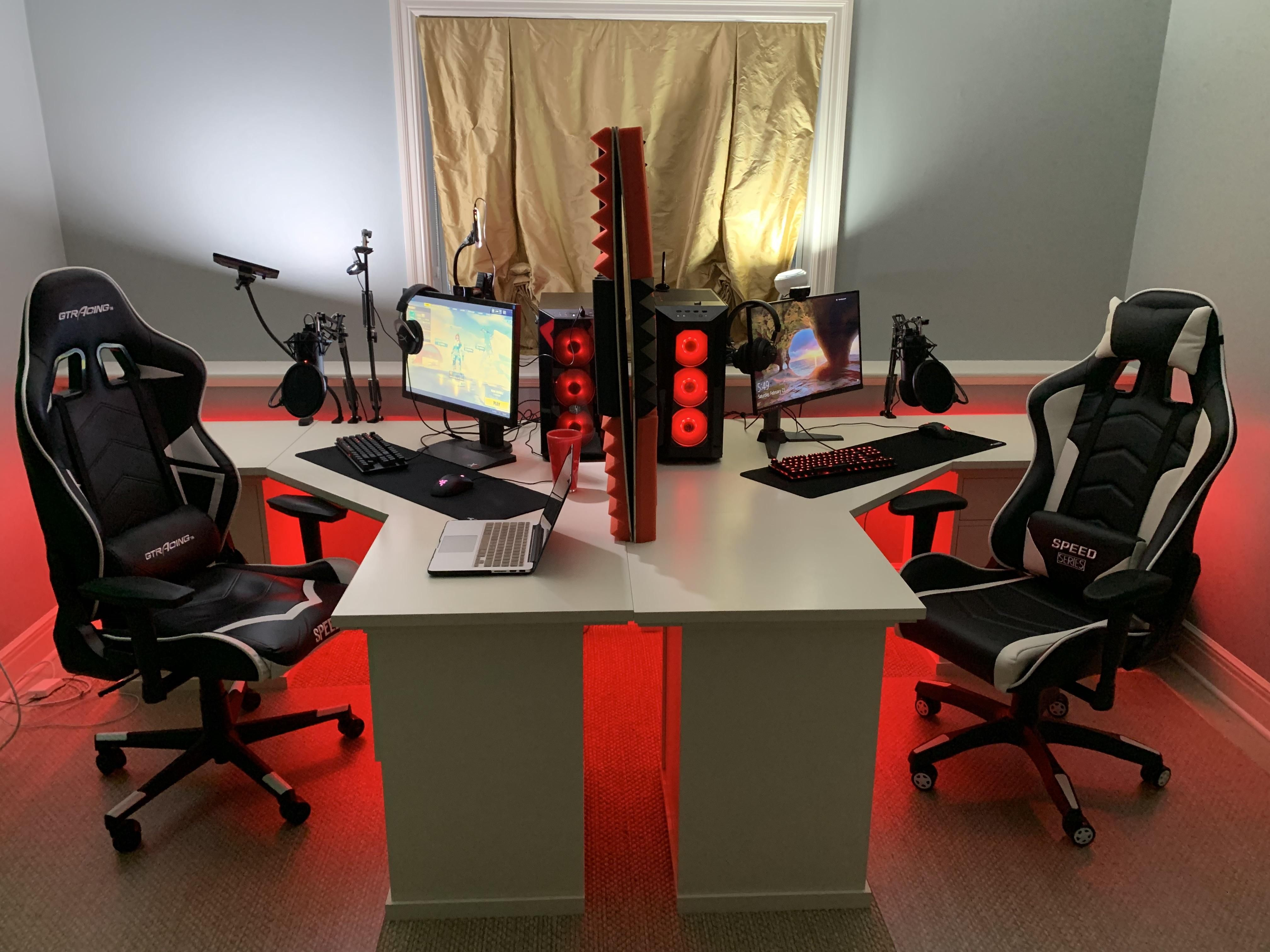 Me and my twin brothers new streaming room Room