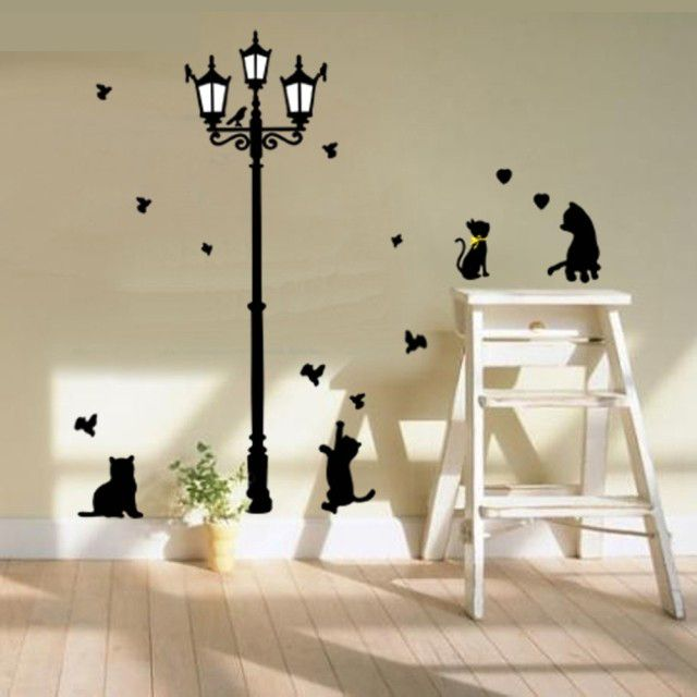 Find More Wall Stickers Information About Buy 1 Get 1 Minion Lovely Cat Sticker  Nursery Wall Part 93