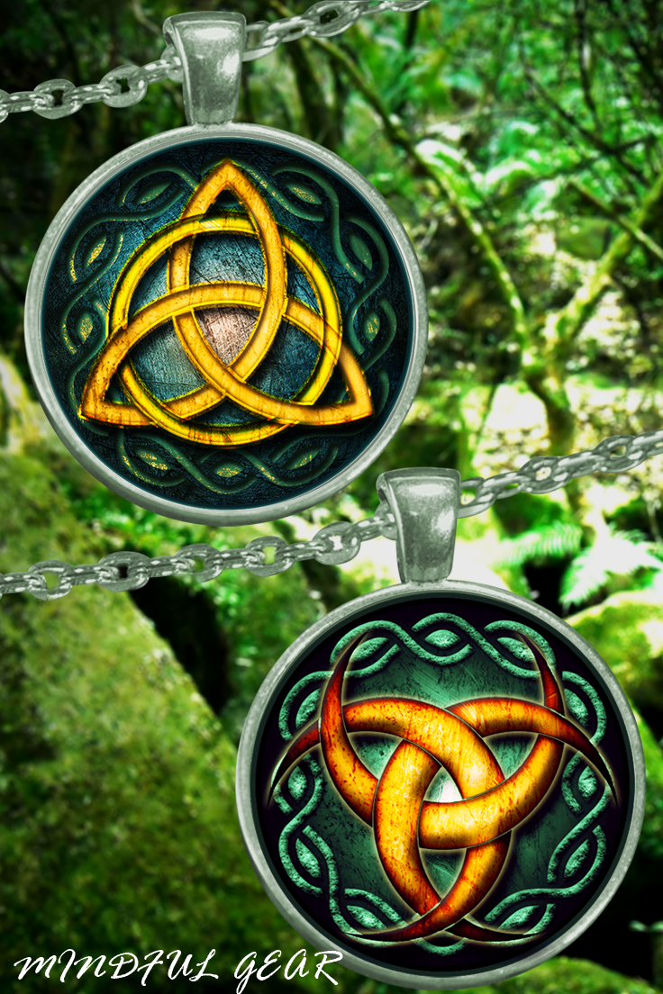 The Celtic Triquetra And The Triple Crescent Moon Pendants These