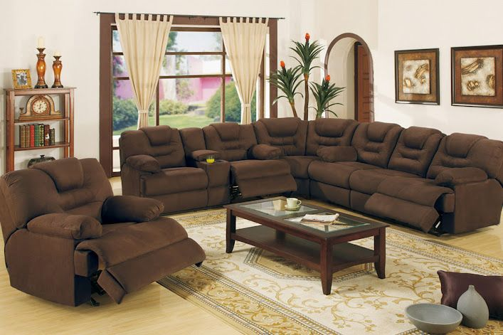 And Family In This Elegant Comfortable Living Room Furniture Cairo King Size Sectional Seating Features Microfiber Upholstery Reclining