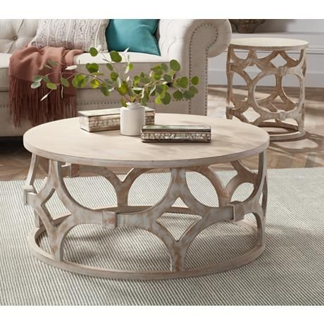 This Coffee Table Features A Sophisticated Lattice Geometric