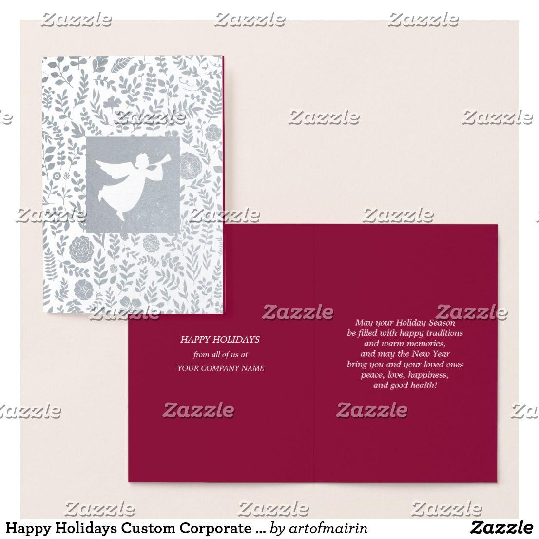 Happy Holidays Custom Corporate Cards | { Happy Holidays ...