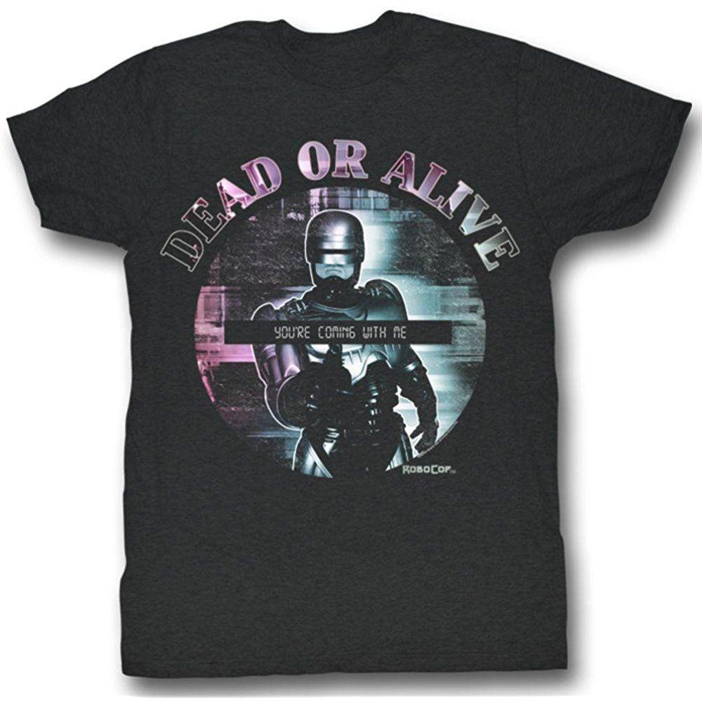 65a6e222d American Classics Robocop Dead or Alive Men's Charcoal T-Shirt [tMen_12682]  - $17.90 : dedeshopping
