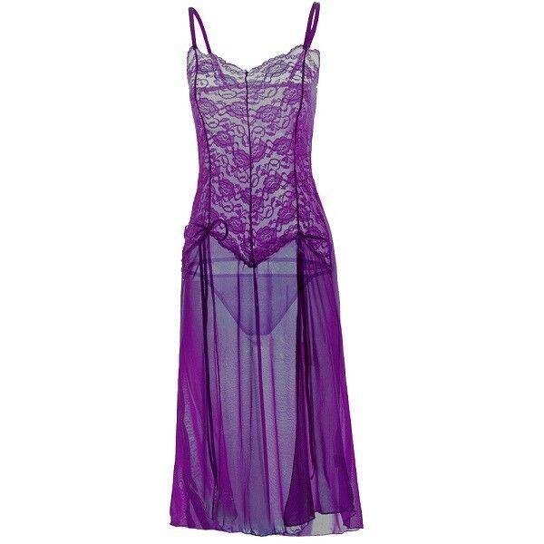 b7dcbe30804 Women Sexy Sissy Bodycon Lingerie Nightwear Underwear Chemise G-String  SlitDress Bodycon