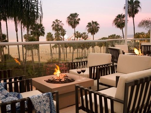 Ocean Terrace Fire Pit In Loews Santa Monica, Santa Monica, California