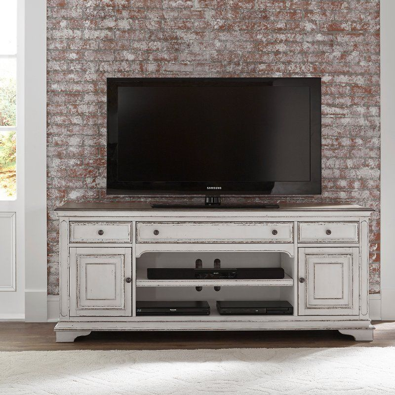 Antique White 70 Inch Tv Stand Magnolia Manor Rc Willey 70 Inch Tv Stand Farmhouse Tv Stand Tv Entertainment Stand 70 inch media console